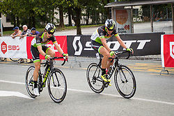 Svab Jernej of Sava Kranj and Groselj Ziga of Sava Kranj  during cycling race 48th Grand Prix of Kranj 2016 / Memorial of Filip Majcen, on July 31, 2016 in Kranj centre, Slovenia.  Photo by Ziga Zupan / Sportida