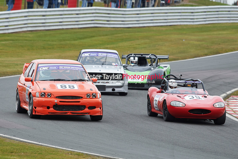 #88 Scott MATTHIAS Ford Escort Cosworth 2000 and #39 Jamie CRYER Ginetta G20 1800 during CNC Heads Sports / Saloon Championship as part of the BARC NW - Championship Raceday  at Oulton Park, Little Budworth, Cheshire, United Kingdom. March 19 2016. World Copyright Peter Taylor/PSP. Copy of publication required for printed pictures.  Every used picture is fee-liable. http://archive.petertaylor-photographic.co.uk