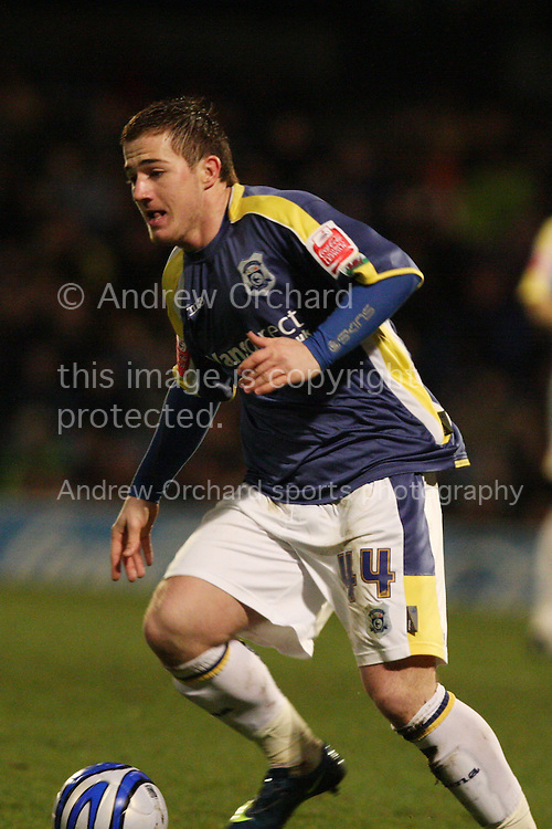 Ross McCormack of Cardiff City. Coca Cola championship, Cardiff City v QPR match at Ninian Park in Cardiff on Wed 25th Feb 2009. pic by Andrew Orchard, Andrew Orchard sports photography.