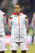 16 October 2014: Monica Ocampo (MEX). The Mexico Women's National Team played the Costa Rica Women's National Team at Sporting Park in Kansas City, Kansas in a 2014 CONCACAF Women's Championship Group B game, which serves as a qualifying tournament for the 2015 FIFA Women's World Cup in Canada. Costa Rica won the game 1-0.