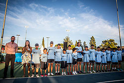 Ball boys after Doubles Final during Tennis tournament  ATP Challenger Zavarovalnica Sava Slovenia Open 2017, on August 11, 2017 in Sports centre, Portoroz/Portorose, Slovenia. Photo by Vid Ponikvar / Sportida