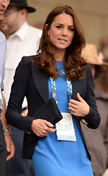 Image licensed to i-Images Picture Agency. 29/07/2014. Glasgow, United Kingdom. The Duke and Duchess of Cambridge  arriving to watch the Athletics, Hampden Park, Glasgow on day six of the Commonwealth Games.  Picture by Andrew Parsons / i-Images