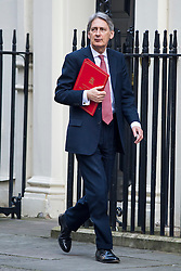 © Licensed to London News Pictures. 23/02/2016. London, UK. Foreign secretary PHILIP HAMMOND arrives at number 10 Downing Street in Westminster, London for cabinet meeting. Photo credit: Ben Cawthra/LNP