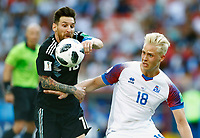 Lionel Messi (Argentina) and Hordur Magnusson (Iceland)<br /> Moscow 16-06-2018 Football FIFA World Cup Russia  2018 <br /> Argentina - Iceland / Argentina - Islanda<br /> Foto Matteo Ciambelli/Insidefoto
