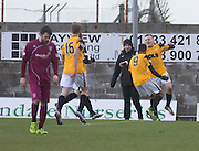 East Fife&rsquo;s Jamie Insall is congraulated after scoring his side's second goal - East Fife v Arbroath, SPFL League Two at New Bayview<br /> <br />  - &copy; David Young - www.davidyoungphoto.co.uk - email: davidyoungphoto@gmail.com