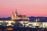 Prague Castle at Dusk, Czech Republic