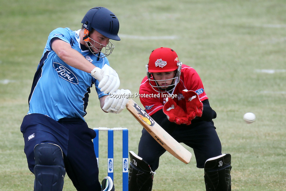 Colin Munro during the Ford Trophy match between the Auckland Aces and Canterbury Wizards. Men's domestic one day cricket. Colin Maiden Park, Auckland, New Zealand. Wednesday 14 December 2011. Ella Brockelsby / photosport.co.nz