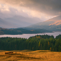 Loch Tulla from the viewpoint, Argyll and Bute