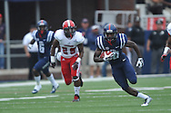 Mississippi Rebels wide receiver Vince Sanders (10) vs. Louisiana-Lafayette at Vaught-Hemingway Stadium in Oxford, Miss. on Saturday, September 13, 2014. Ole Miss won 56-15 to improve to 3-0.