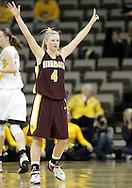 25 JANUARY 2007: Minnesota guard Emily Fox (4) in Iowa's 80-78 overtime loss to Minnesota at Carver-Hawkeye Arena in Iowa City, Iowa on January 25, 2007.