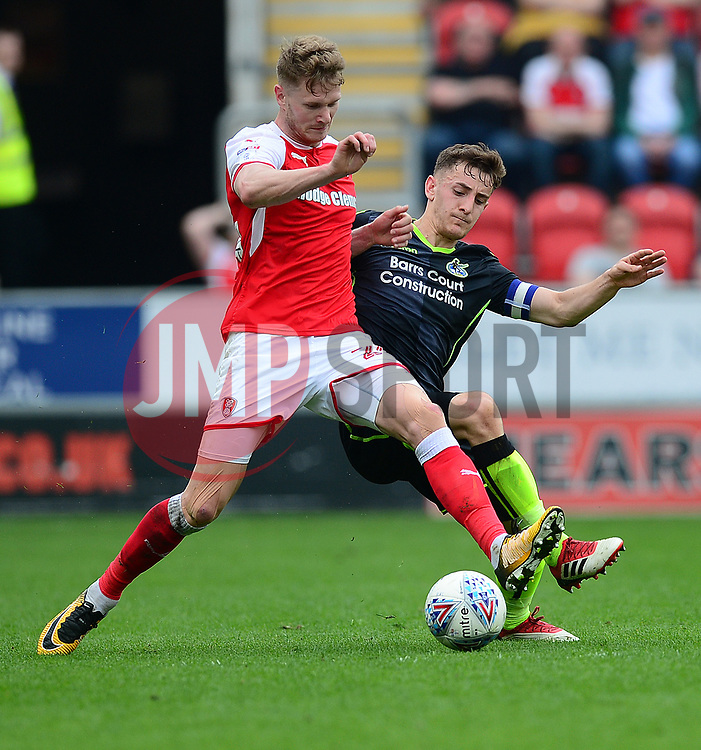 Tom Lockyer of Bristol Rovers battles for the ball with Ihiekwe of Rotherham United  - Mandatory by-line: Alex James/JMP - 21/04/2018 - FOOTBALL - Aesseal New York Stadium - Rotherham, England - Rotherham United v Bristol Rovers - Sky Bet League One