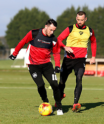 Lee Tomlin of Bristol City and Aaron Wilbraham of Bristol City take part in training - Mandatory by-line: Robbie Stephenson/JMP - 19/01/2017 - FOOTBALL - Bristol City Training Ground - Bristol, England - Bristol City Training