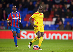LONDON, ENGLAND - Saturday, February 14, 2015: Liverpool's Mamadou Sakho in action against Crystal Palace during the FA Cup 5th Round match at Selhurst Park. (Pic by David Rawcliffe/Propaganda)
