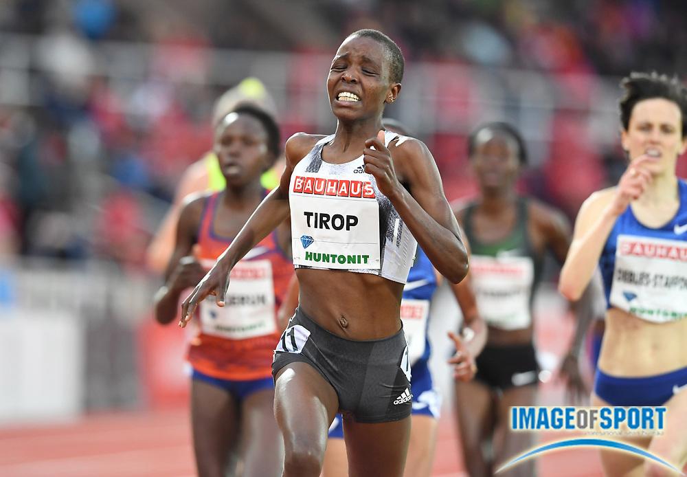 Agnes Tirop (KEN) wins the women's 5,000m in 14:50.82 during the Bauhaus-Galan in a IAAF Diamond League meet at Stockholm Stadium in Stockholm, Sweden on Thursday, May 30, 2019. (Jiro Mochizuki/Image of Sport)