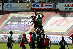 Line Out during the French Top 14 Rugby Match, Montauban vs Toulon on Sunday to cap a memorable week for the south-western club at the Sapiac stadium in Montauban, France on September 6, 2009