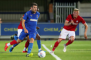 AFC Wimbledon attacker Adam Roscrow dribbling during the Pre-Season Friendly match between AFC Wimbledon and Bristol City at the Cherry Red Records Stadium, Kingston, England on 9 July 2019.