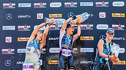 28.08.2016, Zell am See Kaprun, AUT, IRONMAN 70.3 Salzburg, im Bild zweiter Platz Tine Holst (DEN), Siegerin Kaisa Lehtonen (FIN), dritter Platz Emma Pallant (GBR) // second place Tine Holst (DEN), Winner Kaisa Lehtonen (FIN), third place Emma Pallant (GBR) during IRONMAN 70.3, Salzburg at Zell am See- Kaprun, Austria on 2016/08/28. EXPA Pictures © 2016, PhotoCredit: EXPA/ JFK