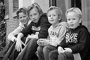 Vier Bruder Familienfoto