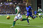 16 Lewis Stevenson on the ball during the Ladbrokes Scottish Premiership match between Hibernian and Rangers at Easter Road, Edinburgh, Scotland on 8 March 2019.