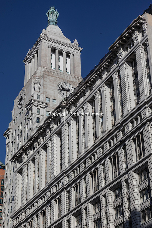 New York. Conde Nast Clock tower on 14th street