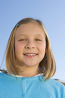 Portrait of pre-teen girl (7-9), smiling