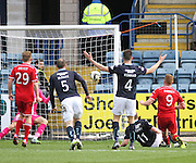 Aberdeen&rsquo;s Adam Rooney scores the opener - Dundee v Aberdeen, SPFL Premiership at Dens Park<br /> <br />  - &copy; David Young - www.davidyoungphoto.co.uk - email: davidyoungphoto@gmail.com