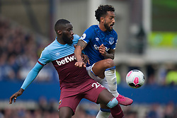 Arthur Masuaku of West Ham United (L) and Theo Walcott of Everton in action - Mandatory by-line: Jack Phillips/JMP - 19/10/2019 - FOOTBALL - Goodison Park - Liverpool, England - Everton v West Ham United - English Premier League
