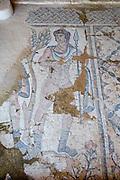 Israel, Lower Galilee, Zippori National Park The city of Zippori (Sepphoris) A Roman Byzantine period city with an abundance of mosaics The Nile House Amazons Hunting mosaic