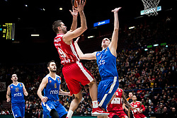 December 29, 2017 - Assago, Milan, Italy - Mantas Kalnietis (#9 AX Armani Exchange Milan) shoots a layup  during a game of Turkish Airlines EuroLeague basketball between  AX Armani Exchange Milan vs Crvena Zvzda Mts Belgrade at Mediolanum Forum in Milan, Italy, on 29 december 2017. (Credit Image: © Roberto Finizio/NurPhoto via ZUMA Press)