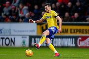 Leeds United midfielder Jack Harrison (22), on loan from Manchester City,  in action  during the EFL Sky Bet Championship match between Rotherham United and Leeds United at the AESSEAL New York Stadium, Rotherham, England on 26 January 2019.