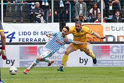 """Foto Filippo Rubin<br /> 26/03/2017 Ferrara (Italia)<br /> Sport Calcio<br /> Spal vs Frosinone - Campionato di calcio Serie B ConTe.it 2016/2017 - Stadio """"Paolo Mazza""""<br /> Nella foto: INTERVENTO DUBBIO SU MANUEL LAZZARI<br /> <br /> Photo Filippo Rubin<br /> March 26, 2017 Ferrara (Italy)<br /> Sport Soccer<br /> Spal vs Frosinone - Italian Football Championship League B ConTe.it 2016/2017 - """"Paolo Mazza"""" Stadium <br /> In the pic:"""
