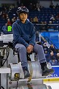KELOWNA, CANADA - JANUARY 25: Orchard Park Zamboni Rider at the Kelowna Rockets game on January 25, 2019 at Prospera Place in Kelowna, British Columbia, Canada. (Photo By Cindy Rogers/Nyasa Photography, *** Local Caption ***