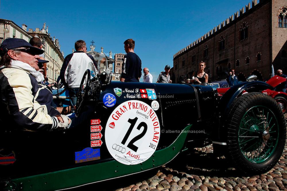 GP TAZIO NUVOLARI 2012. Mantova, Nessi, Riley Brooklands 9 speed 1928