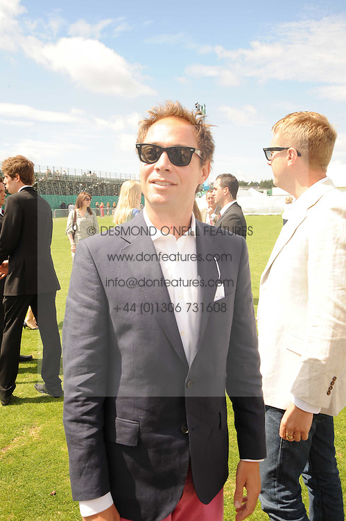 DAN PHILLIPSON at the Cartier International Polo at Guards Polo Club, Windsor Great Park, Berkshire on 25th July 2010.