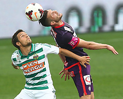 06.04.2014, Generali Arena, Wien, AUT, 1. FBL, FK Austria Wien vs SK Rapid Wien, 31. Runde, im Bild Thomas Schrammel, (SK Rapid Wien, #4) und Alexander Gorgon, (FK Austria Wien, #20) // during Austrian Bundesliga Football 31st round match, between FK Austria Vienna and SK Rapid Vienna at the Generali Arena, Wien, Austria on 2014/04/06. EXPA Pictures © 2014, PhotoCredit: EXPA/ Thomas Haumer