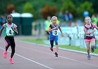 21 Aug 2016:  U8 Girls 80m final.  2016 Community Games National Festival 2016.  Athlone Institute of Technology, Athlone, Co. Westmeath. Picture: Caroline Quinn