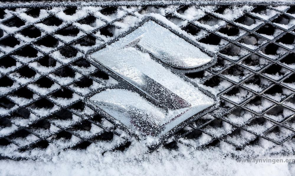 Detail, frozen car