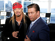 """Bret Michaels and Stephen Baldwin attend the """"All-Star Celebrity Apprentice"""" press conference at Jack Studios in New York City, New York on October 12, 2012."""