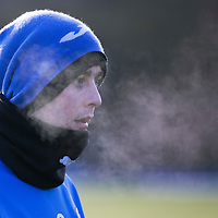 St Johnstone Training....19.01.15<br /> Tam Scobbie pictured during training at a freezing McDiarmid Park this morning ahead of tomorrow night's game at Inverness.<br /> Picture by Graeme Hart.<br /> Copyright Perthshire Picture Agency<br /> Tel: 01738 623350  Mobile: 07990 594431