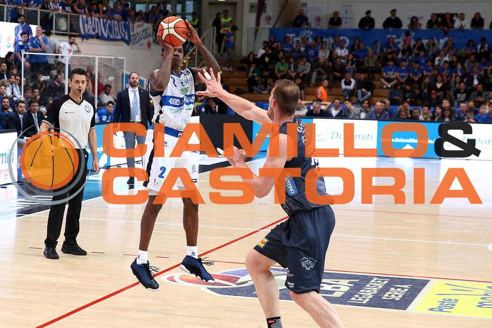 Moore Lee<br /> Dolomiti Energia Trentino vs Germani Basket Brescia<br /> Lega Basket Serie A 2016/2017<br /> Trento, 23/04/2017<br /> Foto Ciamillo-Castoria/A. Gilardi