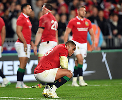 Kyle Sinckler of the Lions after the draw against New Zealand in the third International rugby test match between the the New Zealand All Blacks and British and Irish Lions at Eden Park, Auckland, New Zealand, Saturday, July 08, 2017. Credit:SNPA / Ross Setford  **NO ARCHIVING""
