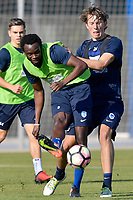 Fotball<br /> Belgia<br /> Foto: PhotoNews/Digitalsport<br /> NORWAY ONLY<br /> <br /> SAN PEDRO DEL PINATAR, SPAIN - JANUARY 13 : Bennard Kumordzi midfielder of KRC Genk an Sander Berge midfielder of KRC Genk pictured during a training session on day 8 of the training camp of KRC Genk in Spain on January 13, 2017 in San Pedro Del Pinatar, Spain, 13/01/2017