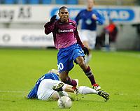 Fotball, 15. oktober 2003, UEFA - cupen, 1 runde, Molde Stadion, Molde- UD Leiria, Caico, Leiria
