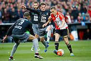 24-04-2016 VOETBAL: KNVB BEKERFINALE FEYENOORD-FC UTRECHT: ROTTERDAM <br /> Jens Toornstra van Feyenoord in duel met Ramon Leeuwin van FC Utrecht <br /> <br /> <br /> foto: Geert van Erven