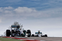 ROSBERG Nico (Ger) Mercedes Gp Mgp W05 action HAMILTON Lewis (Gbr) Mercedes Gp Mgp W05 action   during the 2014 Formula One World Championship, United States of America Grand Prix from November 1st to 2nd 2014 in Austin, Texas, USA. Photo Frederic Le Floch / DPPI.