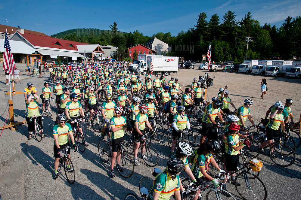 June 17-19, 2011 - Maine, USA : DAY 1 of the 2011 Trek Across Maine - Photographed for the American Lung Association of New England. This image is copyrighted. To inquire about purchasing a print, or licensing an image, please email karsten@karstenmoran.com or visit WWW.TREKIMAGES.COM