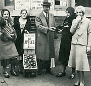 The American Depression - 1930s. Apple vendors stood at street corners in almost every city, trying to eke out a meagre living for their families.