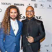 NLD/Amsterdam/20161117 - Esquire Best Geklede Man 2016, Lucien Beijerink en partner