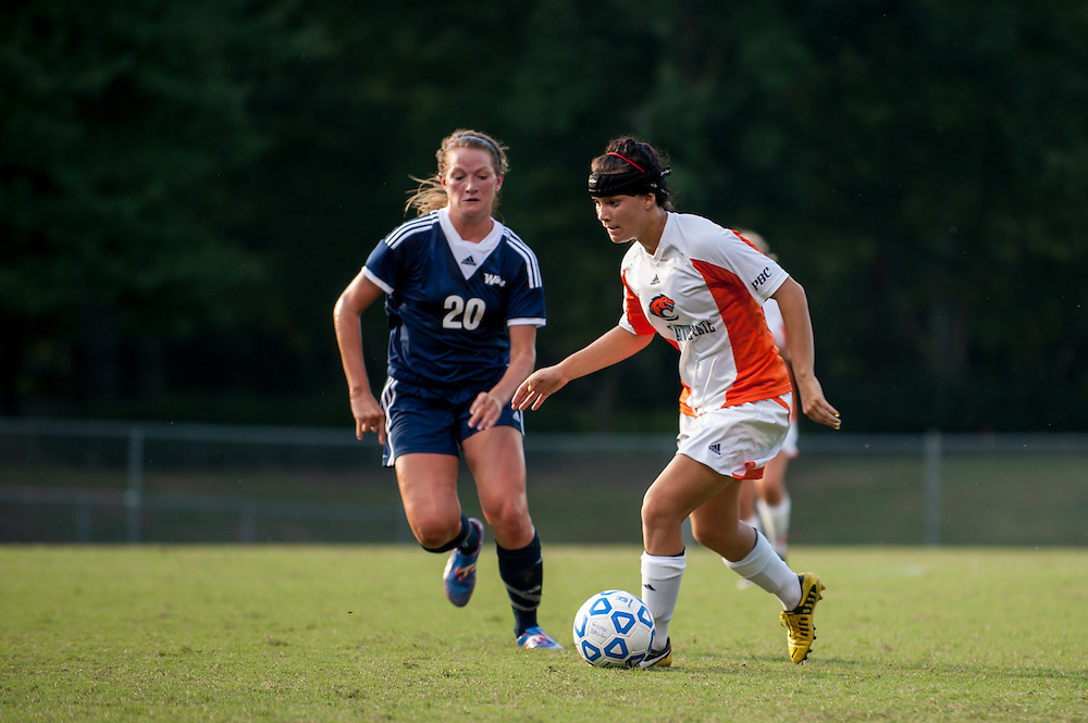 Sep 5, 2013; Morrow, GA, USA; Clayton State women's soccer player Brooke Bortles against Tampa at CSU. Both teams tied 3-3 in overtime. Photo by Kevin Liles/kevindliles.com