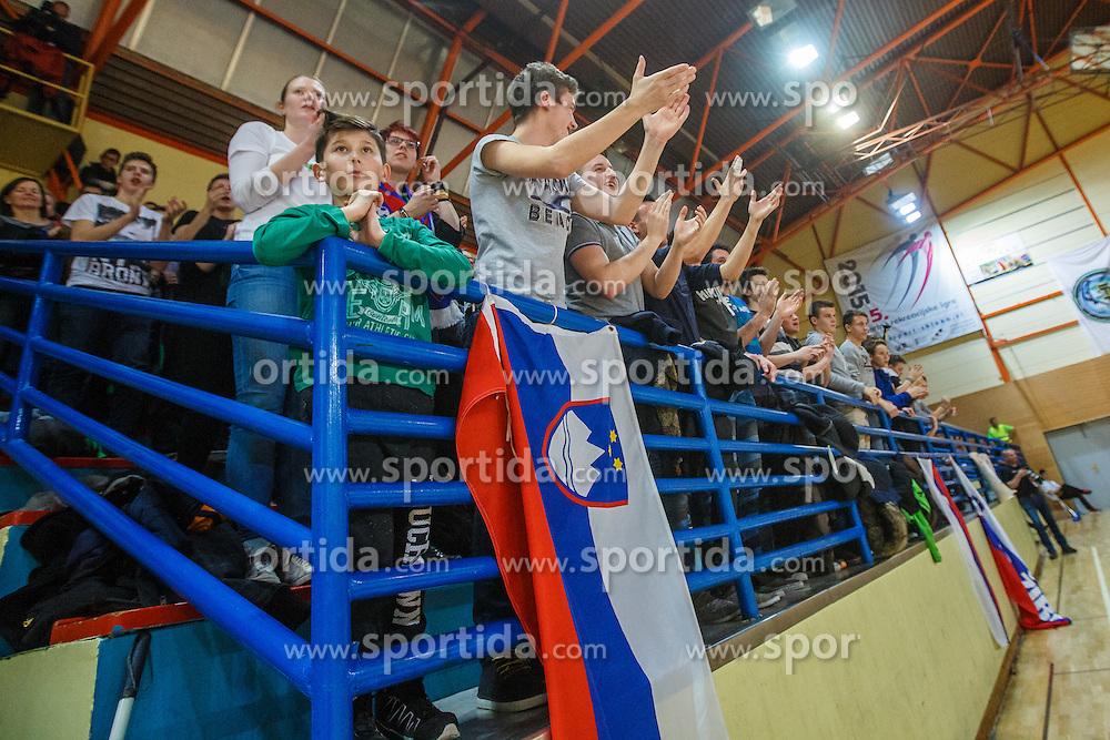 Floorball match between Norway vs Slovenia at World Championship 2016 Qualifiactions in Skofja Loka, Slovenija on 2nd of February.  Photo by Grega Valancic / Sportida
